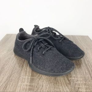 Allbirds Dark Gray Wool Runners Sneakers Size 8